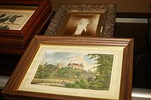 TEN PIECES FRAMED ARTWORK. - 8 1/2 in. x 11 1/2 in., sight size largest.