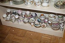 LARGE COLLECTION CUPS AND SAUCERS.