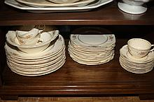 35-PIECE HOMER LAUGHLIN PARTIAL DINNER SERVICE. - 10 1/4 in. diam., dinner plate.
