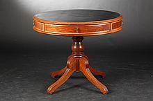 NEOCLASSICAL STYLE DRUM TABLE. - Height, 30 in. ; Diam., 36 in.