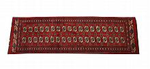 BOKHARA RUG, - 8 ft. 11 in.x 2 ft. 8 in.