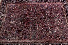 MASHAD RUG. - 9 ft. 2 in. x 11 ft. 6 in.