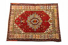 TURKISH RUG. - 5 ft. 1 in. x 4 ft. 7 in.