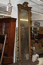 VICTORIAN CARVED HALL MIRROR.