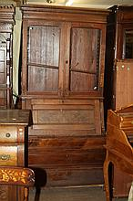 EAST LAKE WALNUT SECRETARY BOOKCASE.