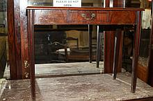 CHIPPENDALE WRITING DESK, with single frieze drawer.
