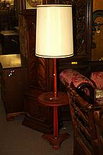 RED PAINTED LAMP-TABLE.