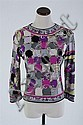 VINTAGE EMILIO PUCCI MAGENTA JERSEY TOP, 1960s; size 10; signed within fabric.