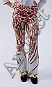 PAIR EMILIO PUCCI SILK BELL BOTTOM PANTS, Size IT 40; signed within fabric.
