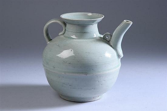 CHINESE QINGBAI PORCELAIN EWER, Northern Song Dynasty. - 7 1/4 in. high.