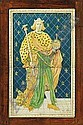A Della Robbia framed plaque of Alfred the Great, Ford Madox Brown, Click for value