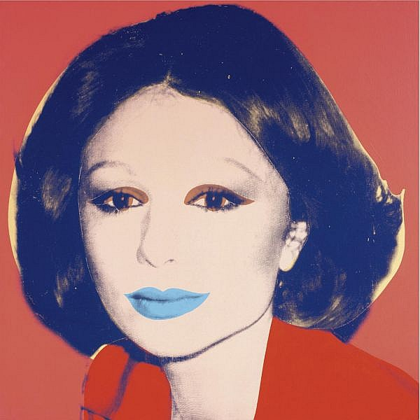 Andy Warhol , Farah Diba Pahlavi (Empress of Iran) acrylic and silkscreen ink on canvas