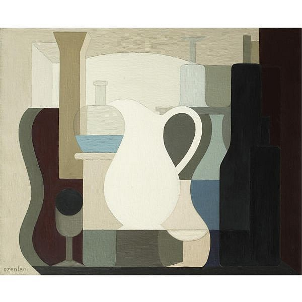 - Amédée Ozenfant , 1886-1966 Le Pichet Blanc oil on canvas