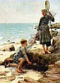 JULES BASTIEN-LEPAGE (FRENCH, 1848-84) LES ENFANTS PECHEURS, Jules Bastien-Lepage, Click for value