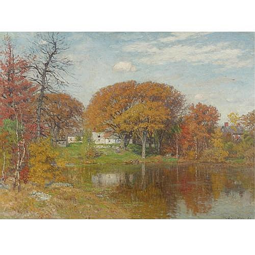 John Joseph Enneking 1841-1916 , Autumn Morning, Neponset