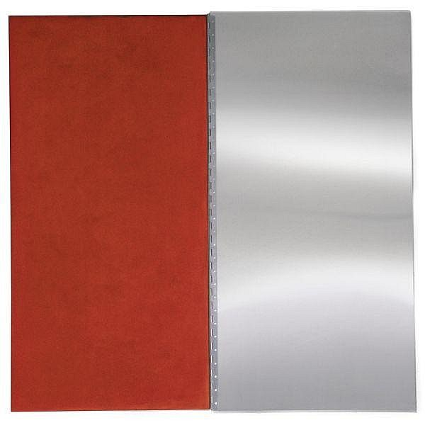 - Abigail Lane , b.1967 Ink Pad (Red) aluminium, cotton covered felt layers and red ink