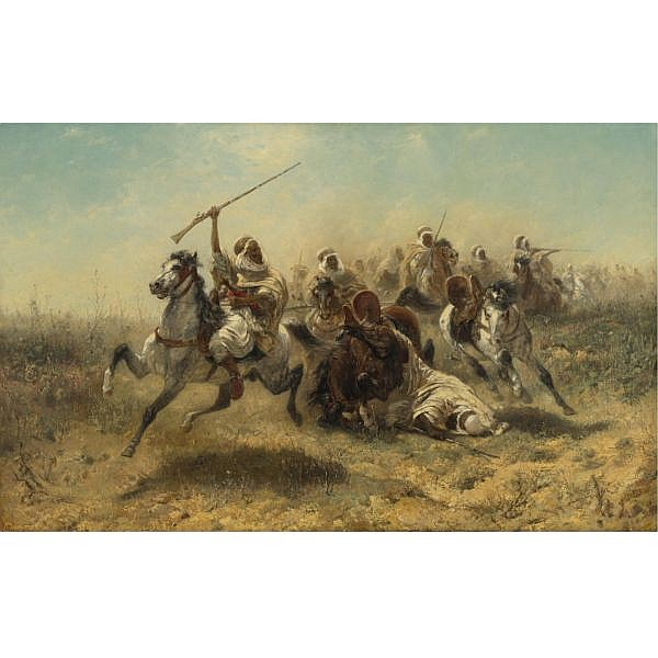 Adolf Schreyer , German 1828-1899 
