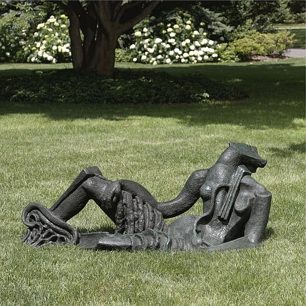 Ossip Zadkine , 1890-1967 Statue pour jardin Bronze