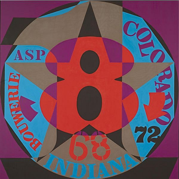 Robert Indiana , n. 1928 Decade: Autoportrait 1968 oil on canvas