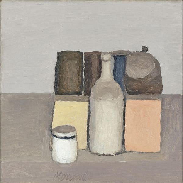 - Giorgio Morandi , 1890-1964 Natura Morta Oil on canvas