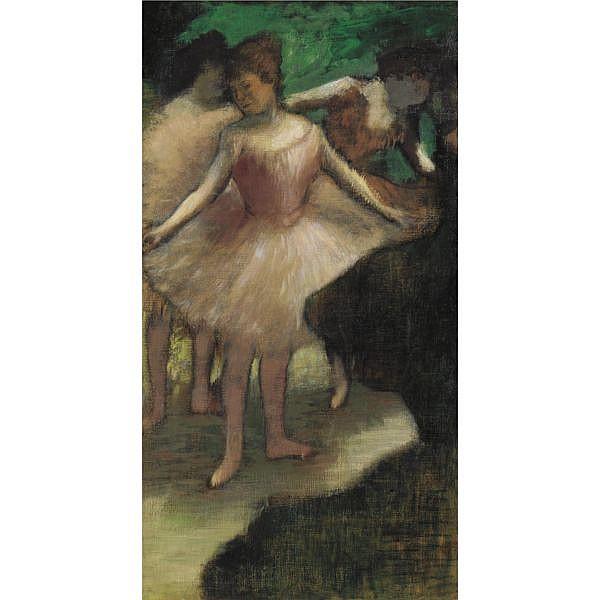 Edgar Degas , 1834-1917   Trois danseuses en rose   Oil on canvas
