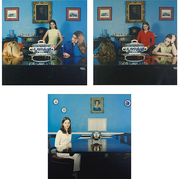 Sarah Jones , Dining Room (Francis Place) (i-iii) c-type print mounted on aluminum, in 3 parts
