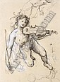 f - PAUL BAUDRY LA ROCHE-SUR-YON 1828 - 1886 PARIS THE GENIUS OF MUSIC IN ITALY