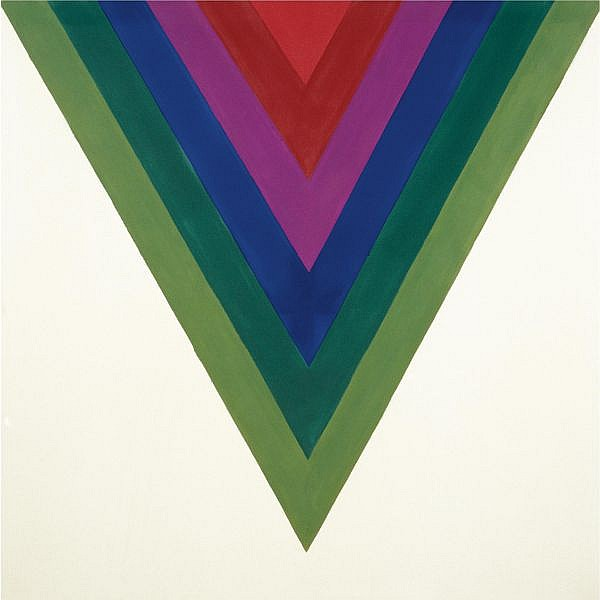 - Kenneth Noland , b. 1924 Chevron 4   acrylic on canvas