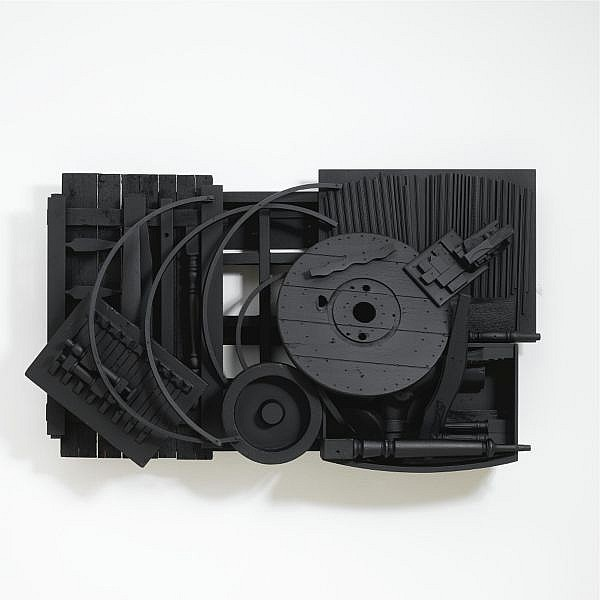 Louise Nevelson , 1899-1988 Mirror Shadow XXXVII wood, painted black