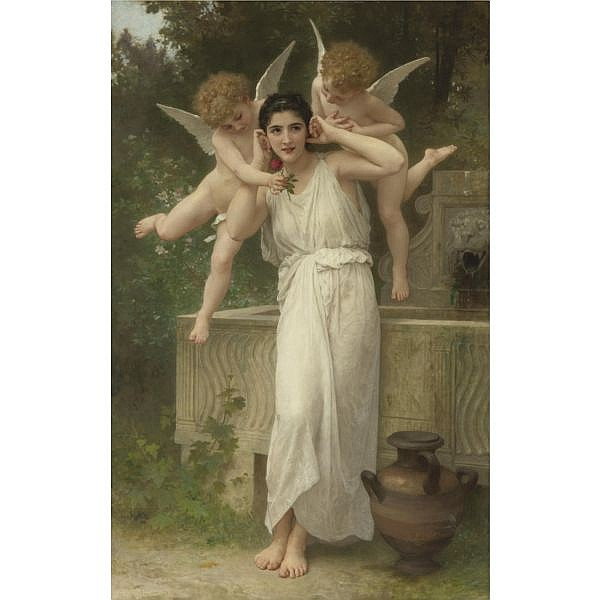 William Bouguereau , French 1825-1905 Jeunesse oil on canvas