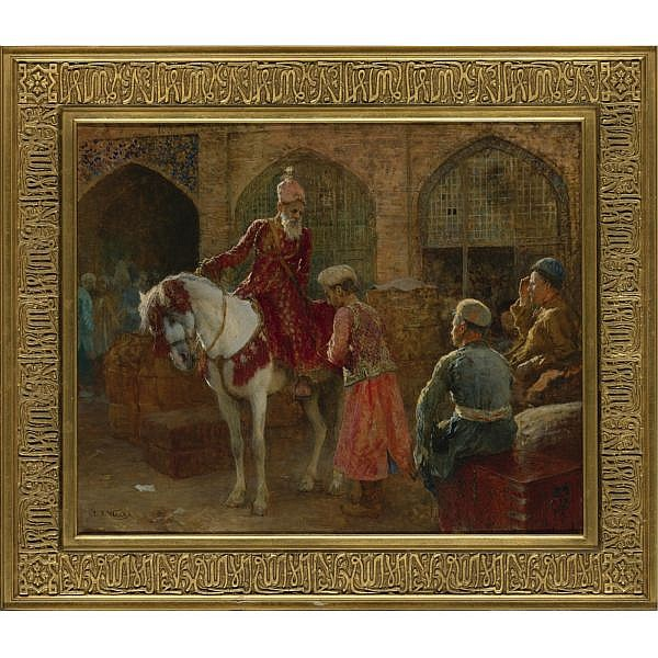 Edwin Lord Weeks , American 1849-1903 THE GRAND VIZIER oil on canvas