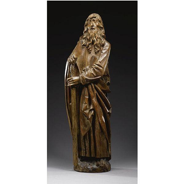 - Follower of Tilman Riemenschneider (c. 1460–1531) German, Franconia, early 16th century , St. Paul limewood, with traces of polychromy