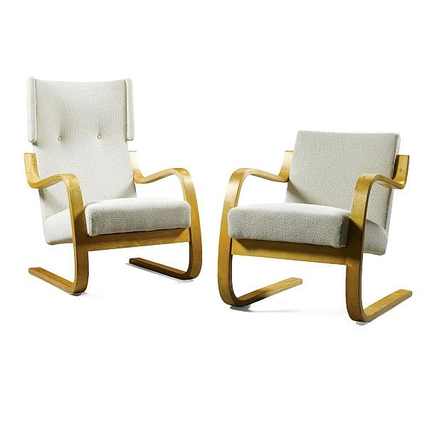 - Alvar Aalto for Finmar , Two armchairs