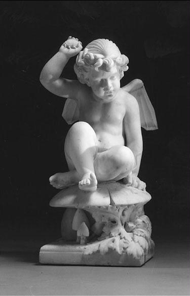 Harriet Goodhue Hosmer a marble figure of Puck