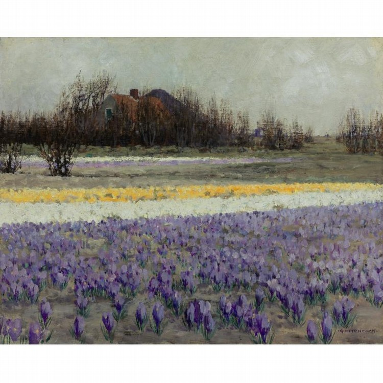 PROPERTY FROM THE COLLECTION OF READER'S DIGEST GEORGE HITCHCOCK 1850-1913 A FIELD OF CROCUSES