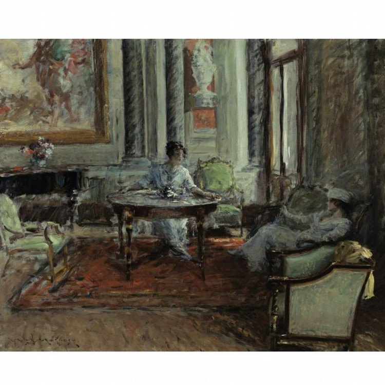 PROPERTY FROM A PRIVATE COLLECTION, CALIFORNIA WILLIAM MERRITT CHASE 1849-1916 FRIENDLY ADVICE
