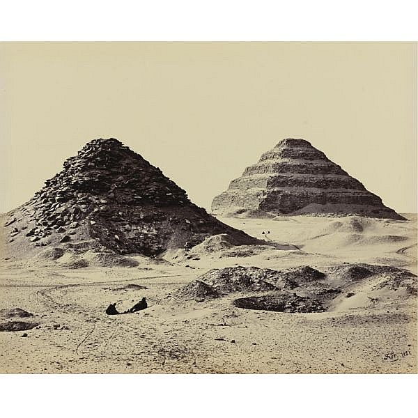 Francis Frith , 1822-1898 'the pyramids of sakkárah, from the north east'