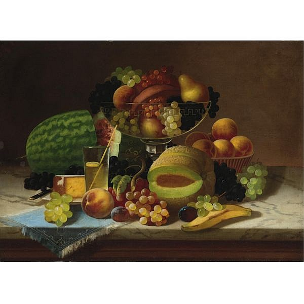 Carducius Plantagenet Ream 1837-1917 , Fruit Piece oil on canvas