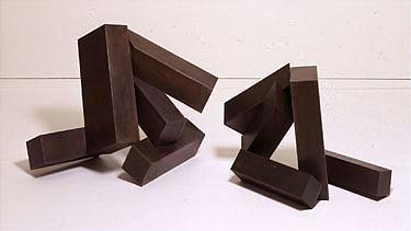 Joel Shapiro b. 1941 Untitled (JS 936a&b) each part signed on the underside bronze, in two parts lar...