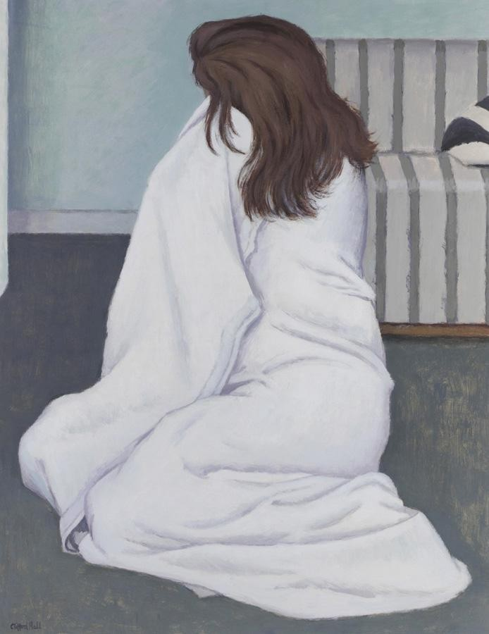 CLIFFORD HALL, 1904-1973 GIRL IN A WHITE TOWEL