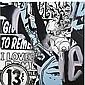 Faile , Studio B Test in Black in Blue #3 oil on canvas,  Faile, Click for value