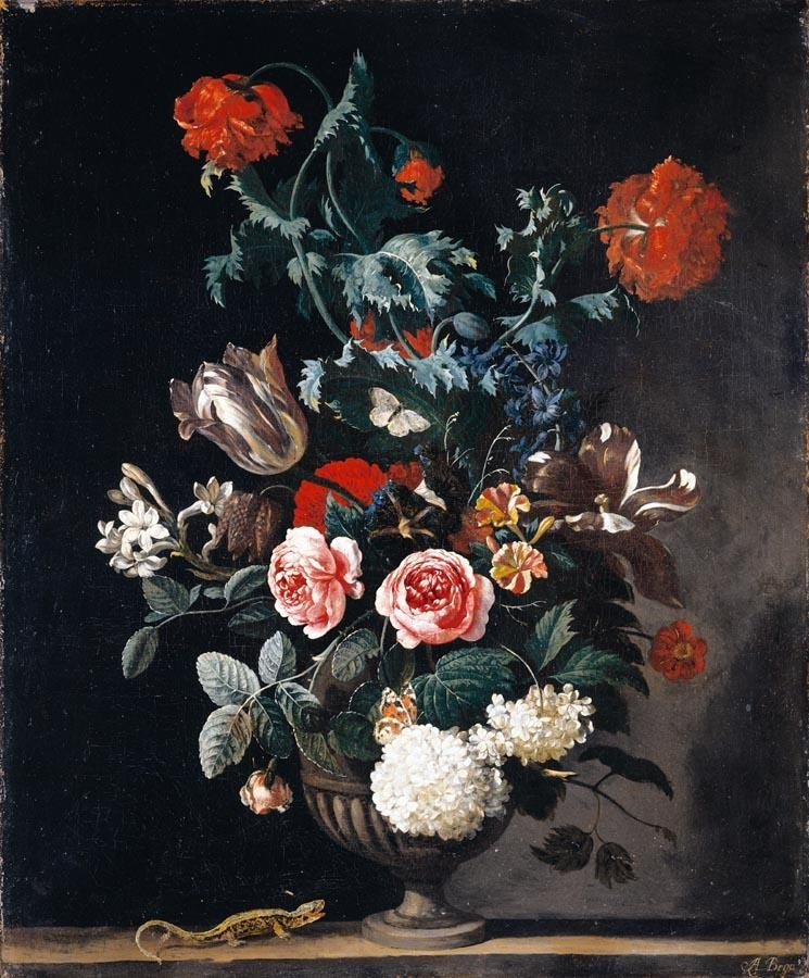 THE PROPERTY OF A GENTLEMAN ABRAHAM JANSZ. BEGEYN LEIDEN 1637/8 - 1697 BERLIN STILL LIFE OF