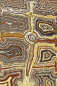 NORA WOMPI NUNGURRAYI BORN CIRCA 1935 TJARTAJIRRA 1993 75 by 49.5 cm Synthetic polymer paint on canvas Bears artist's name, size and Warlayirti Artists catalogue number 3/93 on the reverse together with exhibition label Provenance: Painted in 1993 at