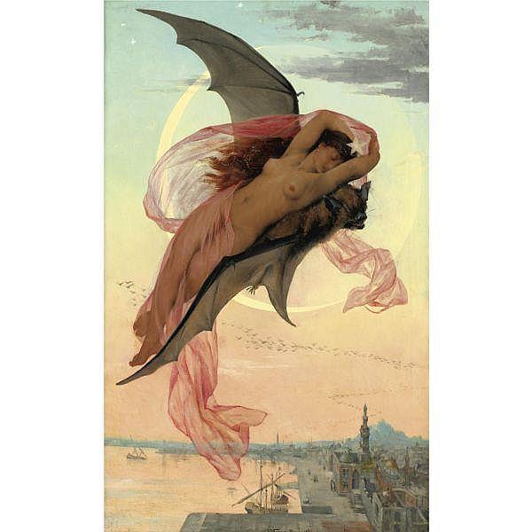 Gabriel Ferrier 1847-1914 , Moonlit Dreams oil on canvas