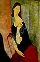 Amedeo Modigliani1884-1920 portrait de jeanne hebuterne, Amedeo Modigliani, Click for value