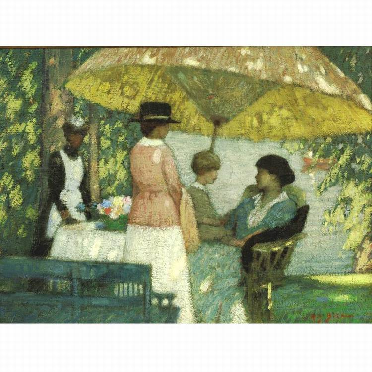 RAE SLOAN BREDIN 1881-1933 UNDER THE PARASOL
