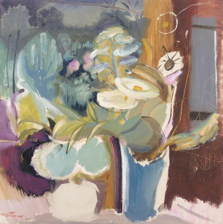 IVON HITCHENS 1893-1979 FLOWERS BEFORE A WINDOW