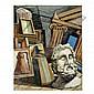- Giorgio de Chirico , 1888-1978 Interno Metafisico con Testa di Filosofo oil on canvas   , Giorgio de Chirico, Click for value