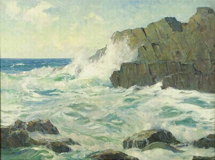 3 - STANLEY WINGATE WOODWARD 1890-1970 LEDGES OFF MONHEGAN, MAINE