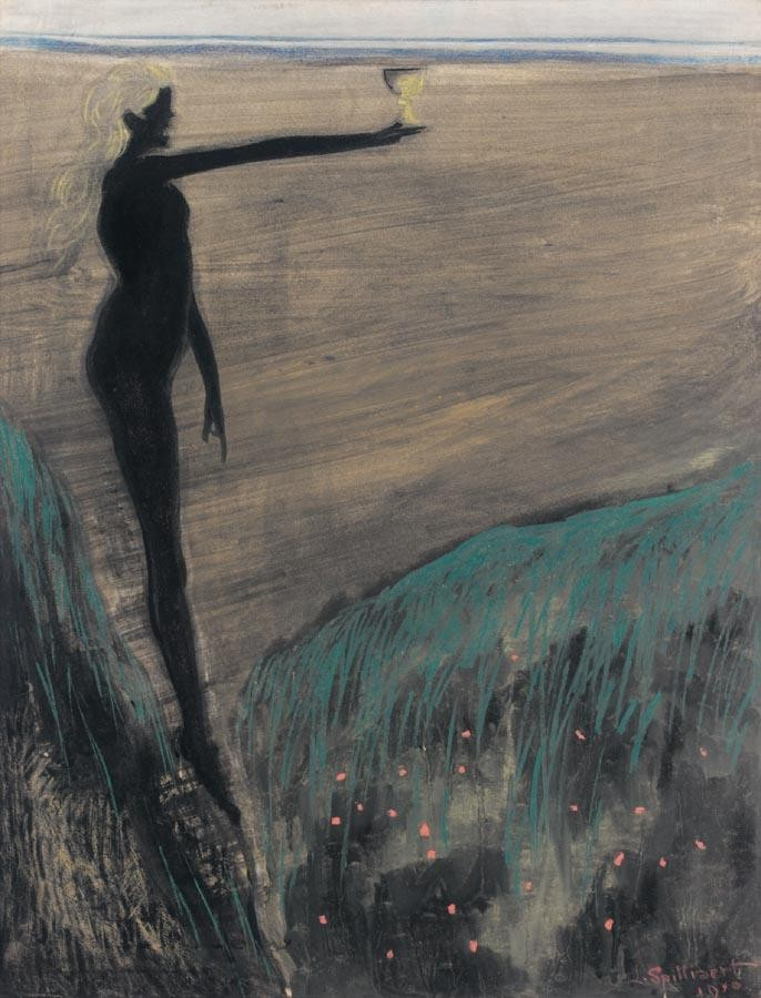PROPERTY FROM A PRIVATE COLLECTION, BELGIUM LÉON SPILLIAERT 1881-1946 FEMME NUE TENANT UNE COUPE